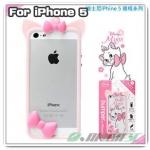 case iphone 5 เคสไอโฟน5 Bumper Disney Marie, Alice in wonderland, Alien, Minnie Mouse ขอบเคสซิลิโคน 3D น่ารักๆ