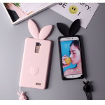 เคส OPPO R7 Plus ซิลิโคน soft case กรุต่ายน้อย 3 มิติ หูยาวน่ารักมากๆ ราคาถูก (ไม่รวมสายคล้อง)