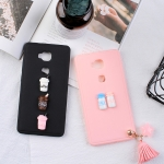 เคส Huawei GR5 พลาสติก TPU แบบ soft case ลายแก้วกาแฟน่ารักมากๆ ราคาถูก (พู่ห้อยเป็นสินค้าแถม)
