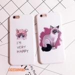 Case iPhone 6s Plus,6 Plus (5.5 นิ้ว) พลาสติกลายแมวหน้ากวน ราคาถูก