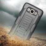 เคสมือถือ Samsung J7 Version 2 (2016) กันกระแทก แนวลุยๆ ดุๆ เท่ๆ ถึกๆ อึดๆ แนวทหาร เดินป่า ผจญภัย adventure เคสแยกประกอบ 3 ชิ้น ชั้นในเป็นยางซิลิโคนกันกระแทก ครอบด้วยแผ่นพลาสติกอีก1 ชั้น กาง-หุบขาตั้งได้ มีปลอกฝาหน้าแบบสวมสไลด์ ใช้หนีบเข็มขัดเพื่อพกพาได้