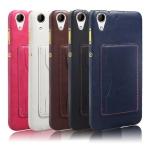 Case HTC Desire 728 dual sim หนังเทียมสีพื้นคลาสสิค มีที่สามารถใส่บัตรได้ ควรมีไว้สักอัน ราคาถูก