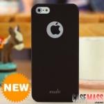 case iphone 5 เคสไอโฟน5 เคสสีพื้นเรียบ ด้านหลังมีรูโชว์โลโก้ หลากสีหลายสไตล์ให้เลือก