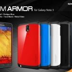 เคส note 3 Case Samsung Galaxy note 3 Slim Armor เคสกันกระแทกด้านในเป็นซิลิโคนนิ่มๆ ด้านนอกเป็นพลาสติกสีสด เงาๆ สวยๆ เคสมือถือราคาถูกขายปลีกขายส่ง -B-