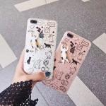 เคส iPhone 7 (4.7 นิ้ว) พลาสติกกากเพชรแมวน้อยแสนน่ารัก ราคาถูก