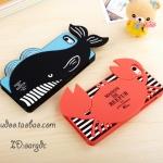เคสไอโฟน4 case iphone 4s ซิลิโคนปลาวาฬน้อย ปูน้อย สุดน่ารัก