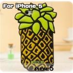 case iphone 5 เคสไอโฟน5 Moschino สับปะรด ซลิโคน 3D เท่ๆ