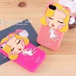 เคสไอโฟน4s case iphone 4 เคสซิลิโคน 3D miss monroe แนวหวานๆ น่ารักๆ เคสมือถือราคาถูกขายปลีกขายส่ง