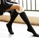 [พร้อมส่ง] S5950 ถุงเท้ายาวครึ่งขา ขอบลูกไม้ระบาย งานน่ารัก สไตล์ญี่ปุ่น Japan Style