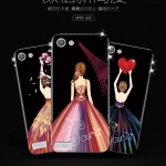 เคส OPPO Mirror 5 Lite / Mirror 5 Lite 4G พลาสติกลายผู้หญิงสวยงามมาก ขอบประดับคริสตัล ราคาถูก (ไม่รวมสายคล้อง)