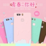 Case Huawei P9 Plus ซิลิโคน TPU สีพาสเทลน่ารักๆ ราคาถูก (ไม่รวมสายคล้อง)