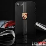 case iphone 5 เคสไอโฟน5 เคสโลหะลายโลโก้รถแข่ง Cars Porsche Ferrari Lamborghini metal shell iPhone5