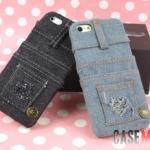 case iphone 5 เคสไอโฟน5 เคสกางเกงยีนส์ยีนส์ขาดๆ มีกระเป๋าใส่บัตรได้ มาพร้อมกระดุมทองเหลือง เซอร์ๆ เท่ๆ แนวๆ แปลกๆ สวยไปอีกแบบ Senior jeans series iphone5