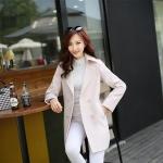[Pre*order] TN4769 เสื้อโค้ทกันหนาว คอปก ตัวยาว แขนยาว ติดกระดุมด้านหน้า สไตล์เกาหลี Korean Style