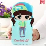 Case iphone 6 (4.7 นิ้ว) ซิลิโคน 3D สามมิติเด็กผู้หญิงสวมหมวกน่ารักมากๆ ราคาส่ง ราคาถูก ราคาปลีก