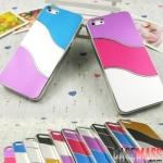 case iphone 5 เคสไอโฟน5 เคสสลับสี 3สี ตัดขอบเงินเงาๆ