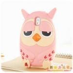 เคส note 3 Case Samsung Galaxy note 3 Roumang เจ้านกฮูกตาปรือ น่ารักๆ ซิลิโคน 3D ราคาส่ง ขายถูกสุดๆ -B-