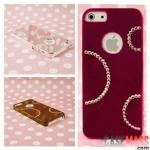 case iphone 5 เคสไอโฟน5 เคสพื้นเงาประดับเพชรครึ่งวงกลมดูสวยหรูหรามีระดับ luxury diamond plating