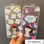 case iphone 5s / 5 พลาสติกโปร่งใสสกรีนลายเด็กหญิงน่ารักๆ ราคาส่ง ขายถูกสุดๆ