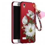 เคส Vivo Y51 พลาสติกลายดอกไม้แสนหวาน พร้อมสายคล้องสวยหรู ราคาถูก