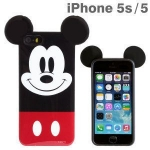 เคสไอโฟน5 / 5s มิกกี้และมินนี่เม้าส์ หูกลมๆ โตๆ น่ารักๆ ซิลิโคน TPU เงาๆ Disney Mickey Mouse ears ราคาส่ง ขายถูกสุดๆ -B-