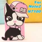 Case Samsung Galaxy Note 2 เคสน้องแมว RB ใส่หมวกสีชมพูน่ารักๆ แนวๆ เคสซิลิโคน 3D เคสมือถือ ขายส่ง ราคาถูก