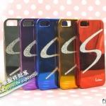 case iphone 5 เคสไอโฟน5 เคสพื้นเงาประดับเพชรคริสตัลหรูหรา Korea's S-shaped diamond