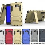 Case Samsung Galaxy Note 5 เคสกันกระแทกแยกประกอบ 2 ชิ้น ด้านในเป็นซิลิโคนสีดำ ด้านนอกพลาสติกเคลือบเงาโลหะเมทัลลิค มีขาตั้งสามารถตั้งได้ สวยมากๆ เท่สุดๆ ราคาถูก ราคาส่ง