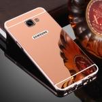 เคส Samsung A8 2016 แบบประกอบ 2 ชิ้น ขอบเคสโลหะ Bumper + พร้อมแผ่นฝาหลังเงางามสวยจับตา ราคาถูก