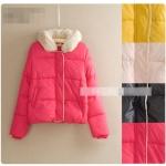 [Pre-order] MM2819 เสื้อกันหนาวแบบดาวน์แจ็คเก็ต บุนวม มีหมวกฮู๊ด แต่งขนเฟอร์ Down Jacket