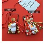 Case OPPO R7s พลาสติก TPU ลายการ์ตูนพร้อมที่ห้อย Lucky cat เฮงๆ เข้าชุดน่ารักๆ ราคาถูก (ไม่รวมสายห้อยคอ)