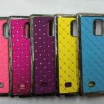 เคส Samsung Galaxy Note Edge พลาสติกเคลือบโลหะเมทัลลิคประดับคริสตัลสวยงาม ราคาถูก