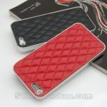 case iphone 5 เคสไอโฟน5 ตัวเคสทำจากหนัง เดินด้ายเป็นตารางสี่เหลี่ยมข้าวหลามตัดสวยงาม ขอบเป็นเงิน แนวหรูหรา ใส่แล้วดูไฮโซ มากมาย