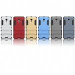 เคส Meizu Pro 6 เคสกันกระแทกแยกประกอบ 2 ชิ้น ด้านในเป็นซิลิโคนสีดำ ด้านนอกพลาสติกเคลือบเงาโลหะเมทัลลิค มีขาตั้งสามารถตั้งได้ สวยมากๆ เท่สุดๆ ราคาถูก