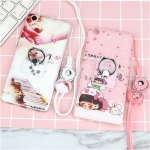 เคส Huawei Y6II ซิลิโคน soft case สกรีลายน่ารักๆ พร้อมแหวานมือถือและสายคล้องเข้าชุดกัน ราคาถูก