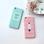Case iPhone 6s Plus / 6 Plus (5.5 นิ้ว) พลาสติกลายไอศครีมสไตล์เกาหลี น่ารักมากๆ ราคาถูก