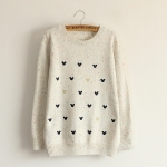 [พร้อมส่ง] MM2348 เสื้อกันหนาวไหมพรม สเวเตอร์แบบสวม ลายมิกกี้เม้าส์ Mickey Mouse