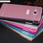 Case Samsung Galaxy A8 แบบประกอบ 2 ชิ้น ขอบเคสโลหะ Bumper + พร้อมแผ่นฝาหลัง PC สวยมากๆ ราคาถูก ราคาส่ง ราคาปลีก