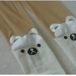 [พร้อมส่ง] P5069 ถุงน่องลายหมีขาว Little White Teddy Bear