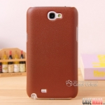 เคส Note 2 Case Samsung Galaxy Note 2 II N7100 เคสหนังเกาะหลังผิวไม่เรียบกันลื่นเท่ๆ leather surface business