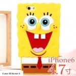 เคส iphone 6 4.7 inch ซิลิโคน 3D Spongbob สป๊องบ๊อบ ราคาถูก -B-