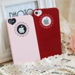 เคสไอโฟน 4/4s case iphone 4/4s ลายลูกไม้โชว์โลโก้รูปหัวใจน่ารัก