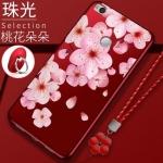 เคส Xiaomi MI Max 2 ซิลิโคนแบบนิ่ม สกรีนลายดอกไม้ สวยงามมากพร้อมสายคล้องมือ ราคาถูก (ไม่รวมแหวน)