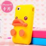 case iphone 4/4s เคสไอโฟน4/4s เคสซิลิโคน 3D ลูกเป็ดน้อยน่ารักๆ