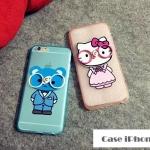 เคส iphone 6 (4.7) TPU + PC คิตตี้ หมีน้อย สวมแว่นตา น่ารักๆ ราคาส่ง ราคาถูก
