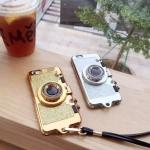 เคส iPhone 6 / 6s (4.7 นิ้ว) พลาสติกเลียนแบบกล้องถ่ายรูปสีแวววาว เปิดเป็นที่ตั้งได้ ราคาถูก (ไม่รวมสายคล้อง)