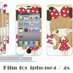film iphone 4/4s ฟิล์มกันรอยไอโฟน4/4s ฟิล์มกันรอยหน้าหลัง การ์ตูนเด็กชาย เด็กหญิง ราคาถูก