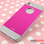 case iphone 5 เคสไอโฟน5 เคสโลหะมีรูโชว์โลโก้สีทูโทนสวยๆเจ็บๆ Moshi Apple iPhone5 metal two-color