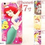 เคส iphone 6 จอ 4.7 นิ้ว พลาสติกการ์ตูนดิสนีย์ แอเรียล Bambi เบลล์ ซินเดอเรล่า ราคาถูก -B-