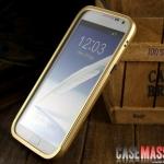 เคส Note 2 Case Samsung Galaxy Note 2 II N7100 bumper ขอบเคสอลูมิเนียมอัลลอย ประกอบ 2 ชิ้น แบบสไลด์ บางเบาสวยเรียบ ใส่แล้วสวยมาก Super bumper domineering metal border Aluminum alloy [ขอบด้านหลังจะไม่เกินตัวเครื่อง เวลาวางหงายตัวเครื่องจะสำผัสพื้น]